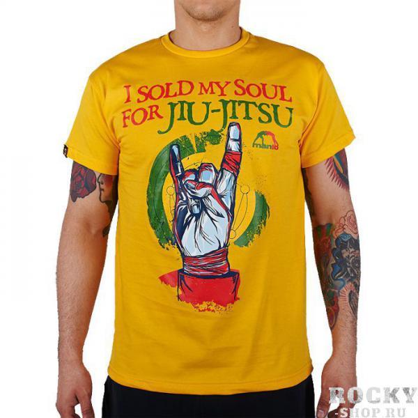 Футболка Manto Soul MantoФутболки / Майки / Поло<br>Футболка Manto Soul.I sold my soul for jiu-jitsu гласит надпись на футболке. Смысл фразы понятен всем. ОСТОРОЖНО: джиу-джицу вызывает привыкание.Состав: 100% хлопок.<br>