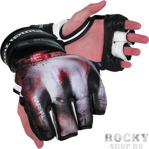 МMA перчатки PunchTown The Dead PunchTownПерчатки MMA<br>МMA перчатки PunchTown The Dead.МMA перчатки PunchTown Fracture Black.Cочетание 3-х факторов: надежность, комфорт, незабываемый дизайн.Cтильные перчатки класса люкс ручной работы, сделанные из кожи топ-класса!Мягкая набивка внутренней части перчаток оберегает суставы кисти.BOA-TITE - двойная конструкция для крепления с обеих сторон запястья.Укрепленная нейлоновая прошивка.Ладонь открыта, чтобы не создавать дискомфорта при захвате оппонента.MMA перчатки PunchTown - это не массовый продукт, а показатель Вашей индивидуальности и состоятельности.Материал: высококачесвенная кожа.Вес: 4 Oz(унции).<br>