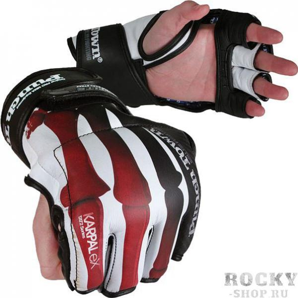 MMA перчатки (накладки) PunchTown Crimson Fracture PunchTownПерчатки MMA<br>MMA перчатки (накладки) PunchTown Crimson Fracture. Изящные и стильные перчатки класса люкс ручной работы. Захватывающий дух дизайн заставит влюбиться в эти перчатки для смешанных единоборств даже людей, которые негативно относятся к боевым искусствам. BOA-TITE TM двойная конструкция для крепления с обеих сторон запястья. Материал: высококачесвенная кожа. Вес: 4 Oz (унции).<br><br>Размер: S
