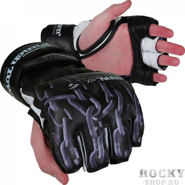MMA перчатки PunchTown KARPAL eX TAT2 PunchTownПерчатки MMA<br>MMA перчатки PunchTown KARPAL eX TAT2. Изящные и стильные перчатки класса люкс ручной работы. захватывающий дух дизайн заставит влюбиться в эти перчатки для смешанных единоборств даже людей, которые негативно относятся к боевым искусствам. BOA-TITE TM двойная конструкция для крепления с обеих сторон запястья. Материал: кожа. Вес: 4Oz(унции).<br><br>Размер: S