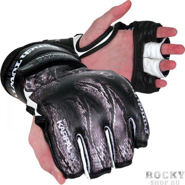 МMA перчатки PuncTown Crush PunchTownПерчатки MMA<br>MMA перчатки (накладки) PunchTown Crush. Cтильные перчатки класса люкс ручной работы, сделанные из кожи топ-класса!Захватывающий дух дизайн заставит влюбиться в эти перчатки для смешанных единоборств даже людей, которые негативно относятся к боевым искусствам. Мягкая набивка внутренней части перчаток оберегает суставы кисти. BOA-TITE двойная конструкция для крепления с обеих сторон запястья. ладонь открыта, чтобы не создавать дискомфорта для захвата оппонента. MMA перчатки PunchTown - это не массовый продукт, а показатель Вашей индивидуальности и состоятельности. Материал: высококачесвенная кожа. Вес: 4 Oz(унции).<br><br>Размер: S