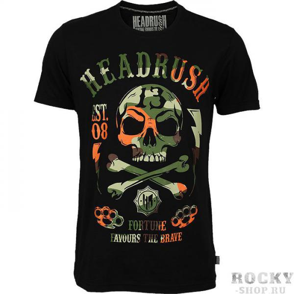 Футболка headrush 13 camo skull