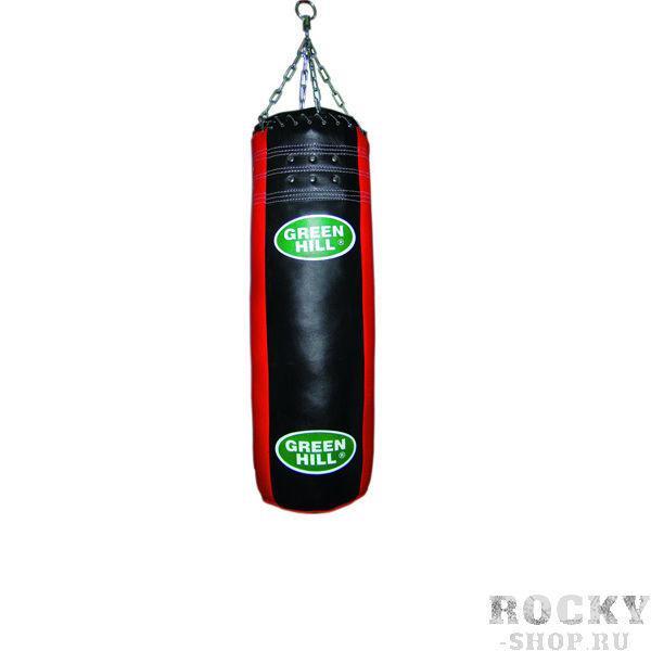 Мешок боксерский Green Hill 150*30 см чёрный/красный (арт. 604)  - купить со скидкой