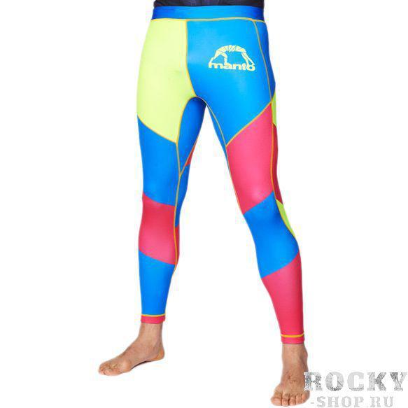 Штаны компрессионные manto multicolor MantoКомпрессионные штаны / шорты<br>Компрессионные штаны manto multicolor. Обеспечивают комфорт в течении всей тренировки, который достигается путем компрессии мышц и защиты кожных покровов от трения. Долговечность и износостойкость обеспечивается благодаря высокому качеству используемого спандекса, полиуретановых нитей и многопанельной конструкции штанов. - Материал спандекс и полиэстер. - Швы из эластичных нитей. - Сублимированная печать. - Эластичный пояс со шнурком. - Резинки внутри манжетов на штанинах для лучшего сцепления с кожей. Уход: Машинная стирка в холодной воде, деликатный отжим, не отбеливать!Компрессионные штаны manto маленьких размеров так же прекрасно подходят и девушкам<br><br>Размер INT: L