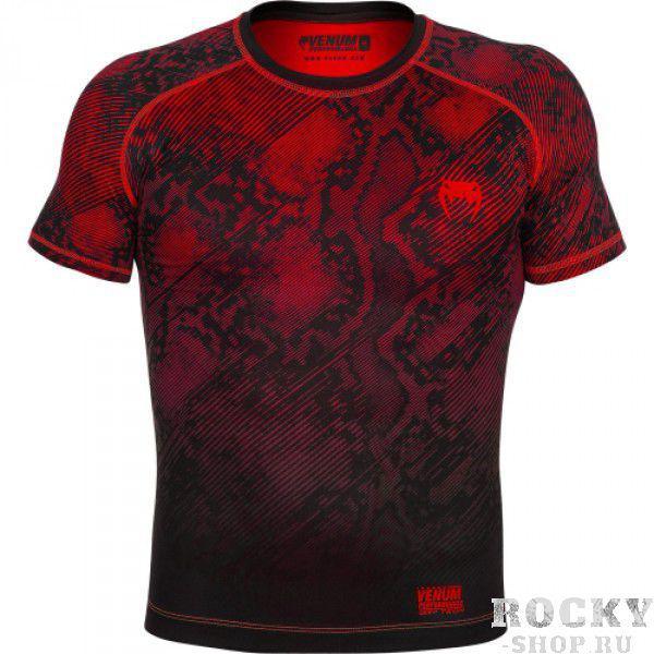 Купить Компрессионная футболка Venum Fusion Compression T-shirt - Black Red Short Sleeves (арт. 6268)