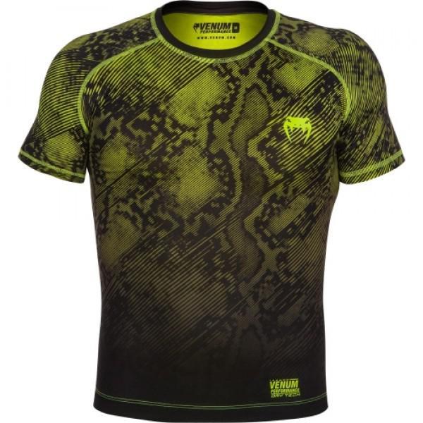 Купить Компрессионная футболка Venum Fusion Compression T-shirt - Black Yellow Short Sleeves (арт. 6270)