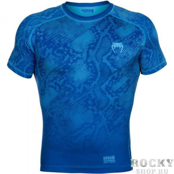 Компрессионная футболка Venum «Fusion» Compression T-shirt - Blue Short Sleeves
