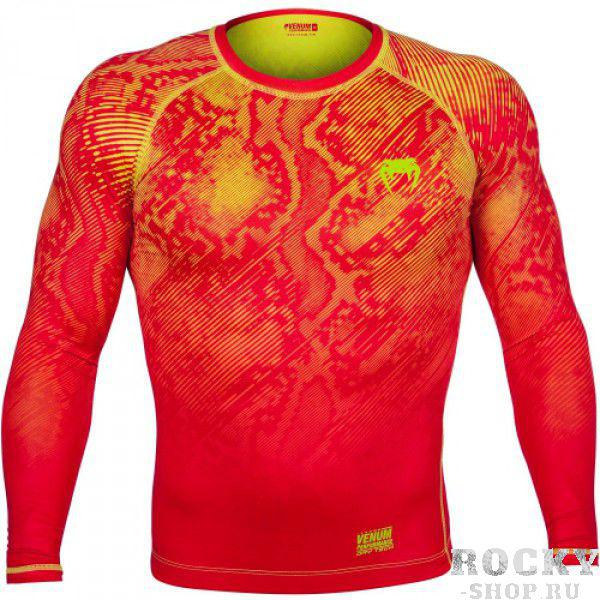 Компрессионная футболка Venum Fusion Compression T-shirt - Orange Yellow Long Sleeves (арт. 6273)  - купить со скидкой