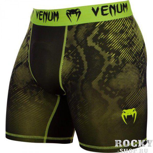 Купить Компрессионные шорты Venum Fusion Compression Shorts - Black Yellow (арт. 6276)