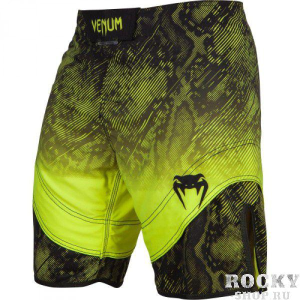 Шорты ММА Venum «Fusion» Fightshorts - Black Yellow