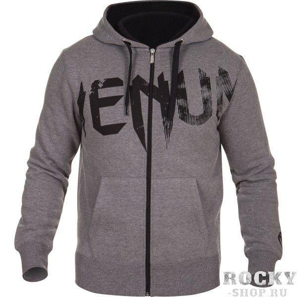 Купить Толстовка Venum Undisputed Hoody Grey - Black Logo (арт. 6291)