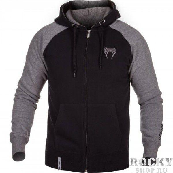 Купить Толстовка Venum Contender Hoody Black/Grey - Grey Logo (арт. 6292)