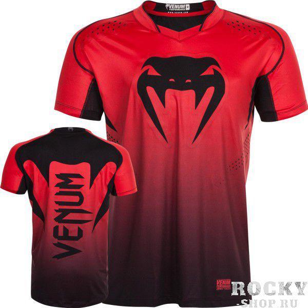 Футболка Venum Hurricane X-Fit Red/Black VenumФутболки / Майки / Поло<br>Не важно насколько велик шторм, футболка Venum Hurricane X-Fit&amp;nbsp;Red/Black&amp;nbsp;разработана специально для того, чтобы помочь Вам противостоять оппоненту во всех аспектах.Ультра-легкая смесь из полиэстера и спандекса создает ткань, которая идеально тянется в четырех направлениях, что обеспечивает свободу полного спектра движений.&amp;nbsp;Уникальная технология Dry Tech выводит пот, оставляя Ваше тело сухим.&amp;nbsp;Высвободите свою энергию, и обрушьте шквал Вашего боевого духа.Особенности:-&amp;nbsp;X-Fit ™ - ультра-легкая смесь из полиэстера и спандекса-&amp;nbsp;Dry Tech™ - эффективная технология вывода влаги- Двойной материал с сетчатыми панелями для лучшей вентиляции- Специальные рукава для лучшей мобильности- Серия Venum Performance<br>