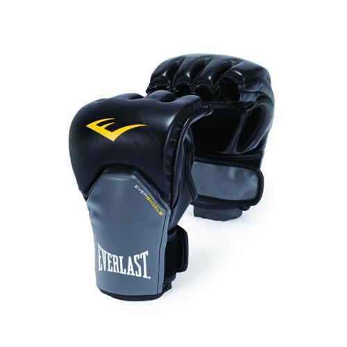 Перчатки MMA Everlast Competition Style , черно-серые EverlastПерчатки MMA<br>Перчатки в полной мере отвечающие специфическим требованиям, предъявляемым к спортивному снаряжению MMA.Благодаря особенностям технологии Evershield – обеспечивается непревзойденная защита и комфорт тыльной стороны кисти — наиболее проблемной и травмируемой зоне. Ударная поверхность сделана немного изогнутой, что также позволяет максимально защитить костяшки в ударной зоне. Перчатки изготовлены из искусственной кожи класса премиум — которая прочнее и надежнее натуральной и довольно приятная на ощупь. Вес перчаток порядка 4х унций.<br>