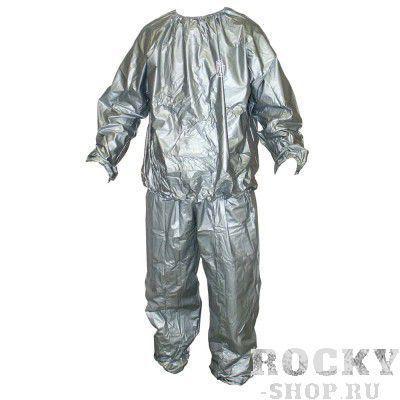 Костюм для сгонки веса, Серебряный RINGSIDEКостюмы-сауны<br>Виниловый костюм для сгонки веса <br>Эффект сауны для того, чтобы помочь потерять дополнительные килограммы<br>Продается целиком - верхняя и нижняя части<br>Не рекомендуется использовать в спортзале<br><br>Размер INT: L/XL