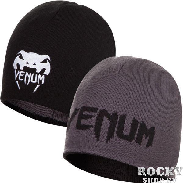 Двухсторонняя шапка Venum VenumШапки<br>Двухсторонняя шапка Venum. Отлично сберегает тепло головы, делая прогулку (или тренировку) на свежем воздухе комфортной. Состав: 100% акрил.<br>