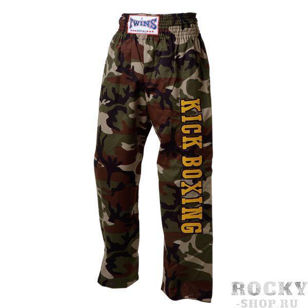 Кикбоксерские штаны, Зелёные Twins SpecialШтаны для кикбоксинга<br>Идеально годятся для кикбоксинга и смешанных единоборств<br> Не сковывают движения<br> Сделаны из хлопка<br><br>Размер INT: Размер XL