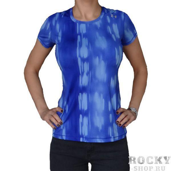 Женская тренировочная футболка Under Armour Under ArmourФутболки<br>Женская тренировочная футболка Under Armour. Тренировочная футболка для девушек Under Armour выполнена на основе последних технологических достижений. Стретчевый материал не сковывает движения и обеспечивает комфорт во время тренировок любого уровня интенсивности. Неважно, какая погода на улице – она не помешает Вам сфокусироваться на тренировке. Отлично подойдет для тренировок такими видами спорта как: кроссфит, бокс, муай тай, работа с железом и т. д. . Футболка приталенная, но при этом имеет довольно свободный крой. Состав: 100% полиэстер.<br><br>Размер INT: L