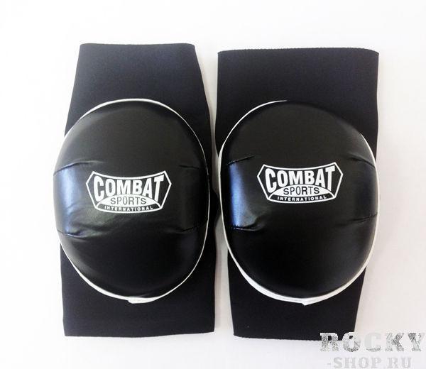 Налокотники, Чёрный CombatЗащита тела<br>Хорошая защита вследствие большому слою пены<br> Удобная вид выполненная из неопрена<br> 2 штуки в упаковке<br><br>Размер: Размер M
