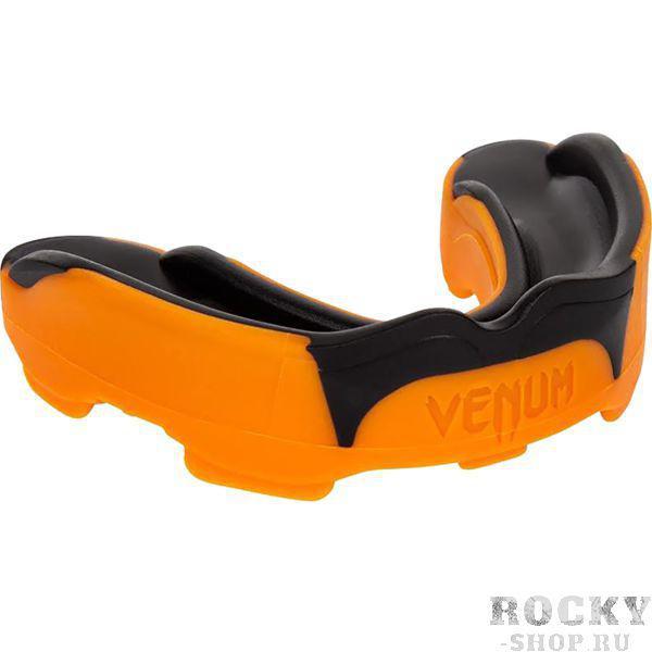 Боксерская капа Venum Predator Black/Orange  VenumБоксерские капы<br>Боксерская капа Venum Predator. Представляем Вашему вниманию новейшую капу Predator от Venum. Эта капа была разработана с целью обеспечить бойцу максимальную защиту и комфорт при использовании. Эта модель тестировалась лучшими бойцами UFC, в том числе знаменитый Лиота Мачида настоятельно рекомендует эту капу всем начинающим и профессиональным бойцам. Технические особенности:- Гелевая рама Nextfit для улучшенного регулирования и комфорта. Хорошо защищает даже при самых неожиданых ударах. - Капа спроектирована таким образом, чтобы обеспечить оптимальное дыхание во время тренировок или соревнования. - Поставляется с защитным чехлом Venum.<br>