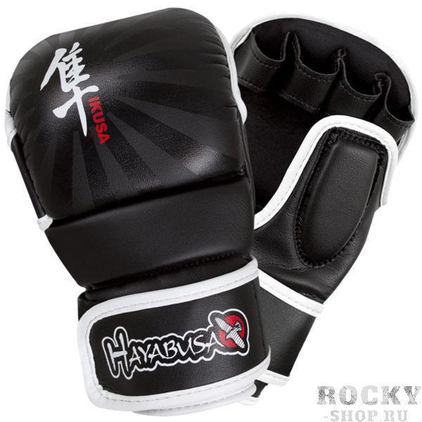 Гибридные перчатки hayabusa ikusa 7oz Hayabusa черно-белые (арт. 7190)  - купить со скидкой