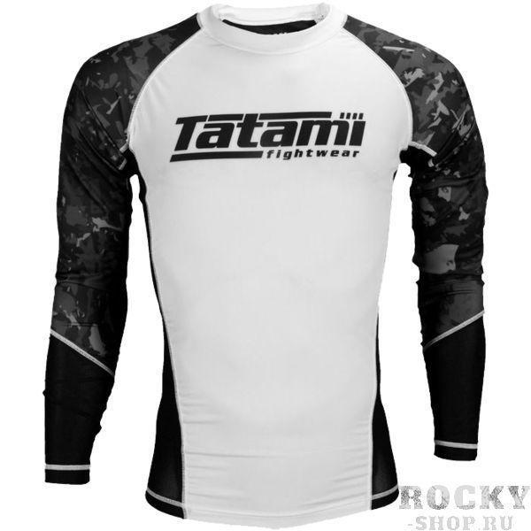 Рашгард Tatami Core TatamiРашгарды<br>Рашгард Tatami Core. Высокое качество нанесения рисунка- все краски сублимированны в ткань!Качественные плоски швы не натирают кожу. Сохраняет тело сухим, а значит мыщцы всегда будут в разогретом состоянии. Ткань очень приятная на ощупь. состав: 80% полиэстер, 20% спандекс. подробности доставки рашгарда tatami<br><br>Размер INT: XL