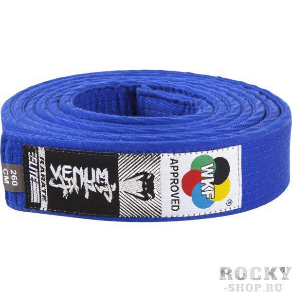 Пояс для кимоно Venum Blue VenumЭкипировка для Каратэ<br>Пояс для кимоно Venum Blue. Пояс, который официально одобрен к использованию WKF (Всемирная Федерация Каратэ). Состав: 100% хлопок.<br><br>Размер: 320см