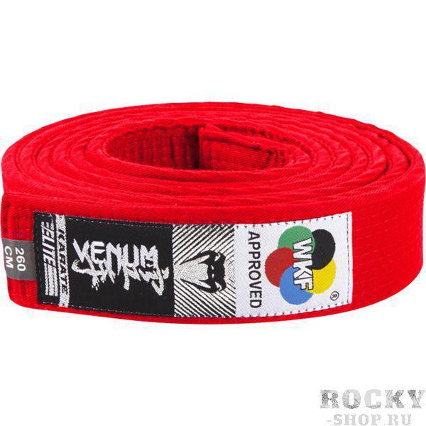 Пояс для кимоно Venum Red VenumЭкипировка для Каратэ<br>Пояс для кимоно Venum Red. Пояс, который официально одобрен к использованию WKF (Всемирная Федерация Каратэ). Состав: 100% хлопок.<br><br>Размер: 260см