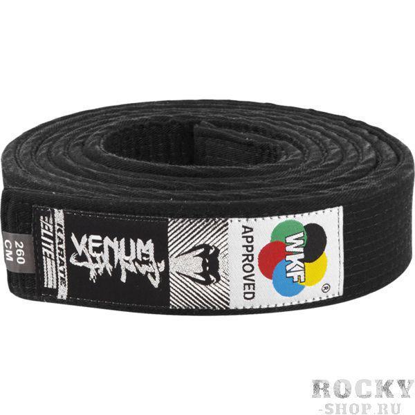 Пояс для кимоно Venum Black VenumЭкипировка для Каратэ<br>Пояс для кимоно Venum Black. Пояс, который официально одобрен к использованию WKF (Всемирная Федерация Каратэ). Состав: 100% хлопок.<br><br>Размер: 260см