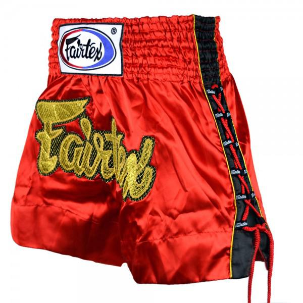 Купить Шорты для тайского бокса Fairtex GOLD MESH красные (арт. 7266)