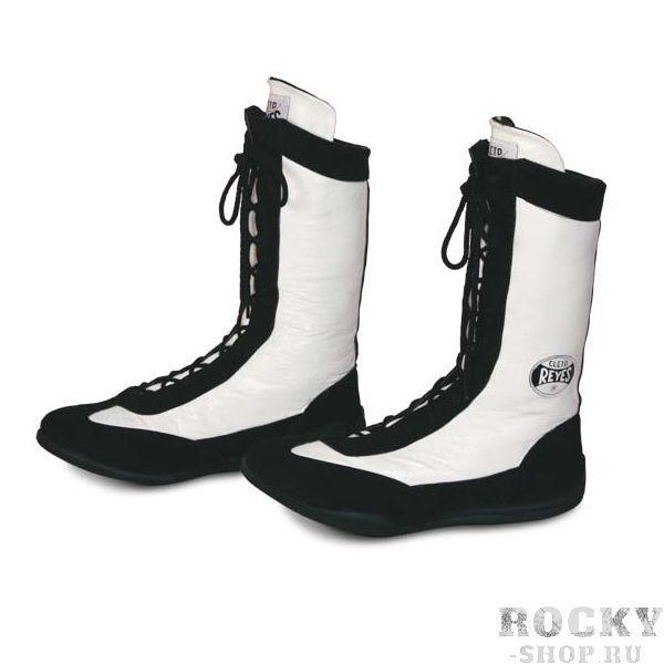 Боксерки высокие, Чёрно-белые Cleto ReyesБоксерки<br>Изготовлены из первоклассной кожи и замши<br> Полиуритановые стельки и специальная конструкция подошвы смягчает ударную нагрузку на суставы<br> Идеально сидит на ноге<br><br>Размер: Размер 47