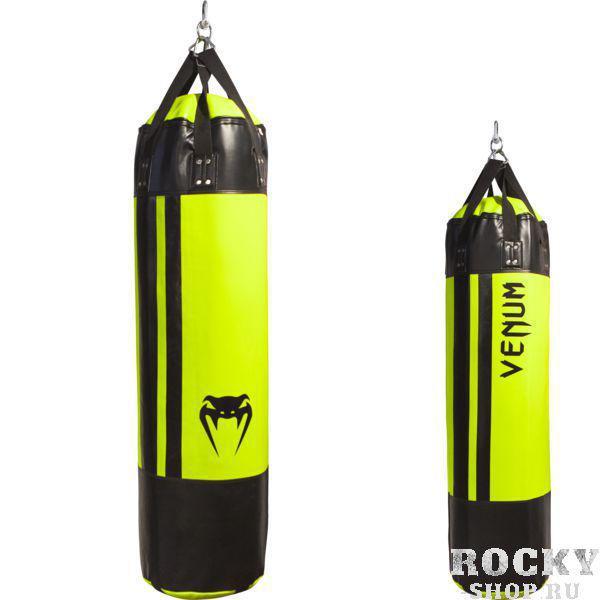 Боксерский мешок Venum 130*38 см, Набитый VenumСнаряды для бокса<br>Профессиональный боксерский мешок(груша) Venum Hurricane. Новейшая боксерская груша от VENUM, одобренная мастером молниеносных ударов, Лиото Мачидой. Боксерские груши «Ураган» созданы , чтобы выдерживать тяжелейшие удары. Груша НАПОЛНЕНА достаточно мягким материалом, уберегающим Ваши суставы от травм. Технические особенности:• материал Skintex премиум класса. • Размер 130 см * 38 см. • Внутри вшита пена, абсорбирующая силу удара. • Надежная система креплений. • Жесткие нейлоновые лямки избавят от скрежета железа во время тренировок. • Сделано вручную в ТайландеВНИМАНИЕ: кронштейны и крепежи в комплект НЕ входят!<br>