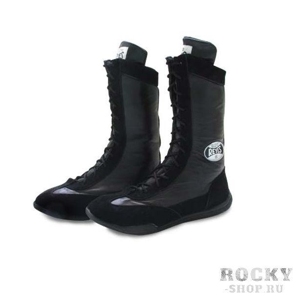 Боксерки высокие, Чёрные Cleto ReyesБоксерки<br>Изготовлены из первоклассной кожи и замши<br> Полиуритановые стельки и специальная конструкция подошвы смягчает ударную нагрузку на суставы<br> Идеально сидит на ноге<br><br>Размер: Размер 48