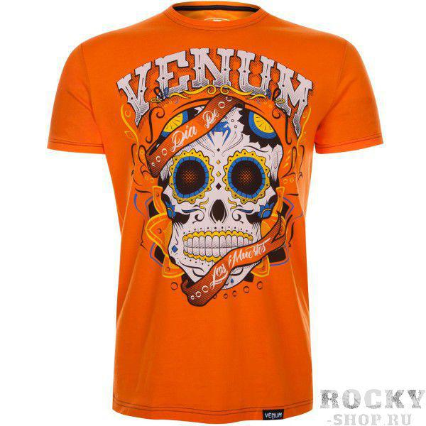 Футболка Venum Santa Muerte Orange VenumФутболки<br>Футболка Venum Santa Muerte излучает сущность мексиканской культуры. Замечательный дизайн создавался в честь бога смерти майянской религии Ah Puch. В этой футболке Вы будете выгодно выделяться как в зале, так и на улице. Особенности:- 100% хлопок- очень мягкая и удобная- спортивный крой- качественные принты<br><br>Размер INT: S