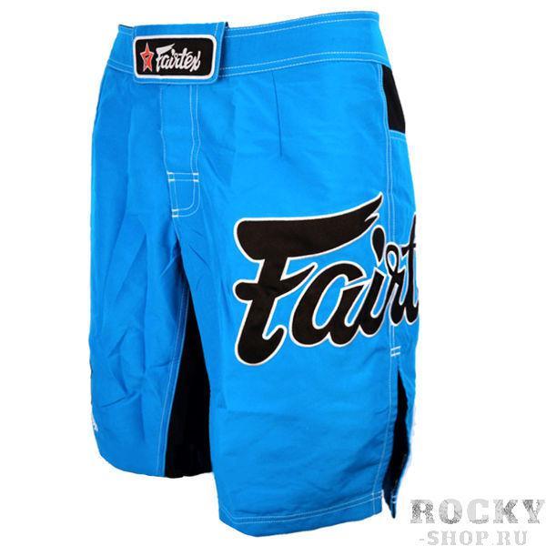 Шорты MMA Fairtex, Синие FairtexШорты ММА<br>Это классические шорты Fairtexдля различных видов спорта. Они одинаково хороши и для ММА, и для Грэпплинга, и для Muay Thai, и для Виндсерфинга. Так же они подойдут для активного отдыха на природе, пробежек или купания. Эти шорты поистине являются универсальными. <br><br>Материал - полиестер 100%<br>По бокам сделаны эластичные вставки, уменьшая вероятность разрыва ткани при нагрузках<br>Цвет - светло голубой<br><br>Размер INT: M