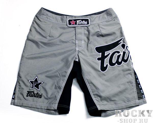 Шорты MMA Fairtex, Серые FairtexШорты ММА<br>Это классические шорты Fairtexдля различных видов спорта. Они одинаково хороши и для ММА, и для Грэпплинга, и для Muay Thai, и для Виндсерфинга. Так же они подойдут для активного отдыха на природе, пробежек или купания. Эти шорты поистине являются универсальными. <br><br>Материал - полиестер 100%<br>По бокам сделаны эластичные вставки, уменьшая вероятность разрыва ткани при нагрузках<br>Цвет - серый<br><br>Размер INT: M