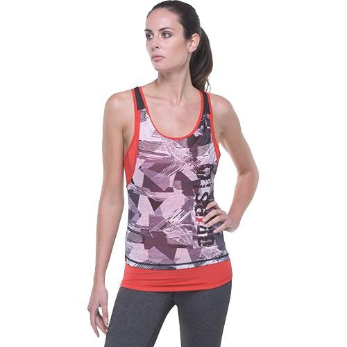 Женская тренировочная майка Grips Athletica Grips AthleticsМайки<br>Женская тренировочная майка Grips Athletica. Эта майка сделана на основе последних технологических достижений. Стретчевый материал не сковывает движения и обеспечивает комфорт во время тренировок любого уровня интенсивности. Легкая двухслойная ткань из полиэстера. Специальная конструкция обеспечивает комфорт для Вашей кожи. Майка впитывает пот, благодаря чему Ваше тело остается достаточно свежим во время тренировок. состав: полиэстер, спандекс.<br><br>Размер INT: S
