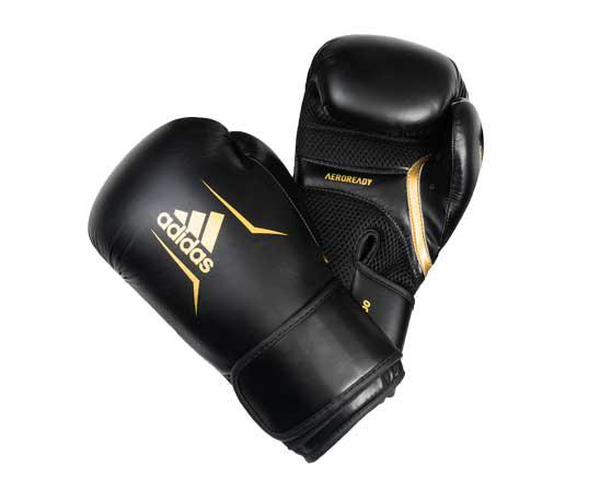 Перчатки боксерские Speed 100 черно-синие Adidas 10 унций (арт. 7724)  - купить со скидкой