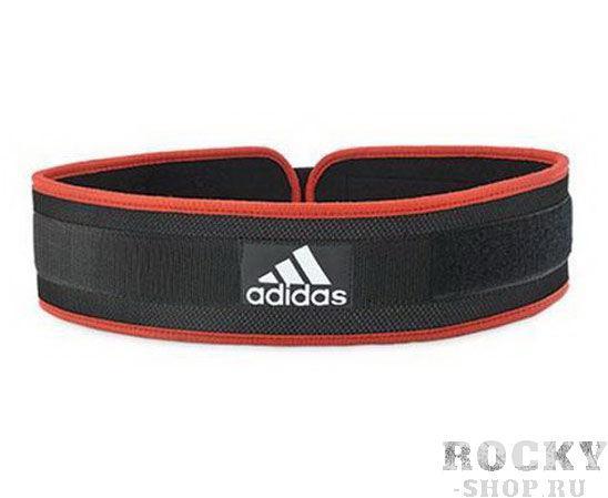 Пояс тяжелоатлетический Nylon Weightlifting Belt черно-красный AdidasПояса атлетические<br>цвет: черный/красныйматериал: нейлон, полипропилен, ЭВАслои нейлона и жесткого набивочного материала создают структуру ремня, которая помогает мускулам торса во время тренировок и особенно при поднятии тяжестейконструкция застежки позволяет отрегулировать размер ремняразмер: M (100х10х1 см), L (105х10х1 см), XL (110х10х1 см), XXL (114х10х1 см)<br><br>Размер: XL