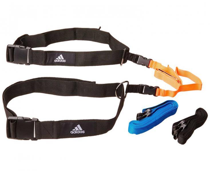 Набор реакционных ремней Reaction Belt черно-оранжево-синий Adidas