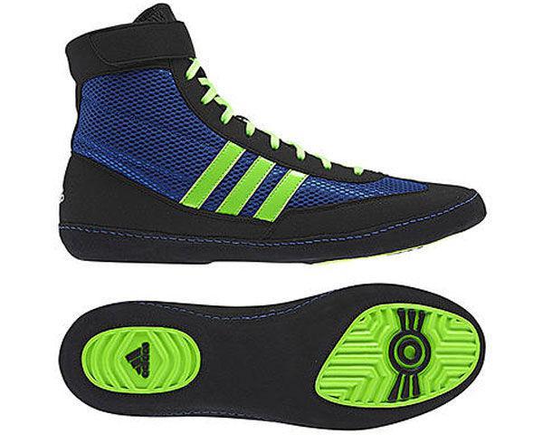 Борцовки Combat Speed.4 сине-черно-зеленые Adidas