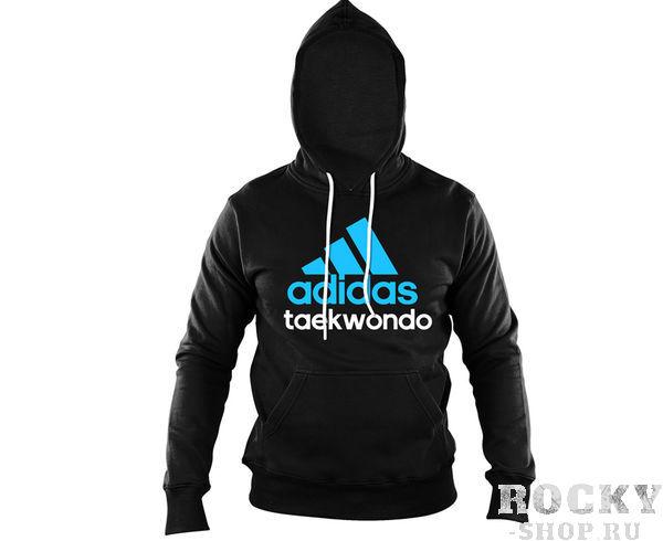 Толстовка с капюшоном (Худи) Community Hoody Taekwondo черно-синяя Adidas