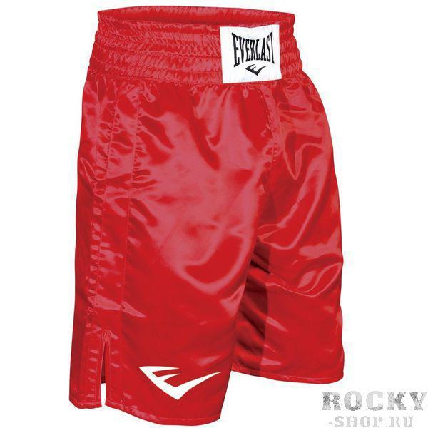 Шорты боксерские атласные Everlast, Красные EverlastШорты для бокса<br>Трусы боксерские сделаны из первоклассного атласа. Широкий пояс гарантирует плотное облегание вокруг талии. Длина выше колена, высокие разрезы обеспечивают свободу движения боксера.<br><br>Размер INT: L