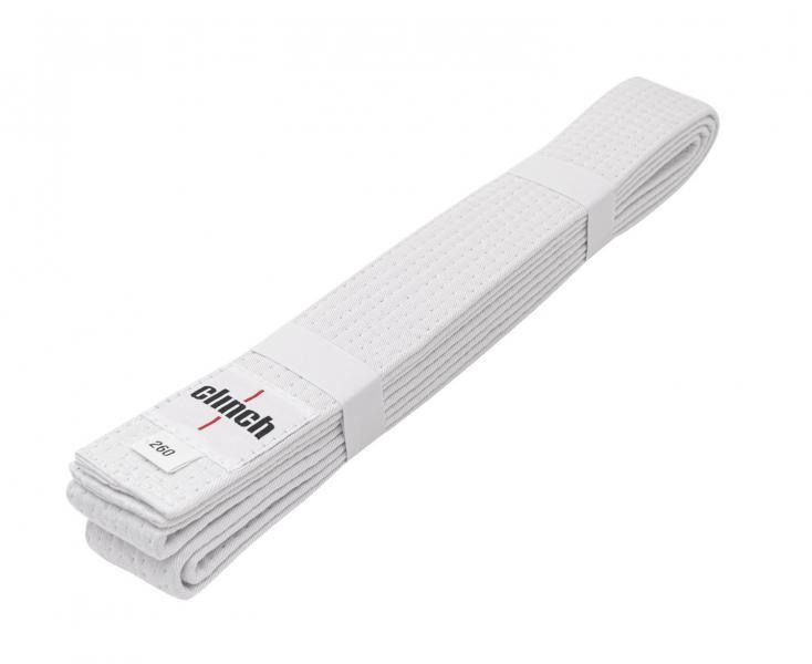 Купить Пояс для единоборств Clinch Budo Belt Gear белый (арт. 7859)