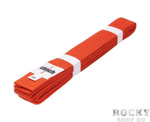 Пояс для единоборств Clinch Budo Belt, оранжевый Clinch GearЭкипировка для Каратэ<br>Пояс Clinch универсальный для единиборств Budo Belt . 100% хлопок, стойкое окрашивание, простроченный -8 строчек. Ширина 4,5 см, жесткий.<br><br>Размер: 260 см