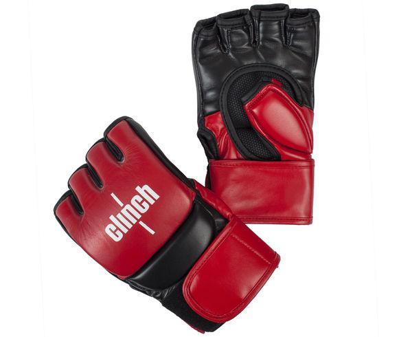 Купить Перчатки для смешанных единоборств Clinch MMA Gear красно-черные (арт. 7866)