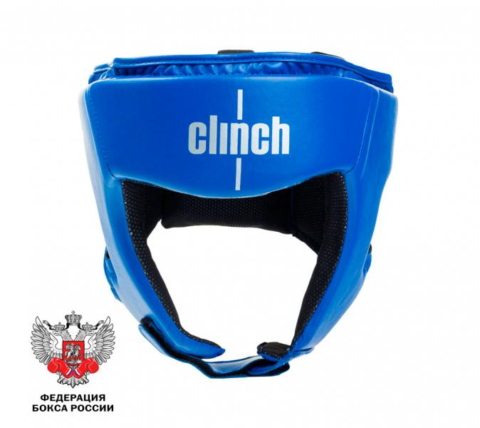Шлем боксерский Clinch Olimp, синий Clinch Gear