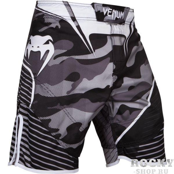 ММА шорты Venum Camo Hero VenumШорты ММА<br>ММА шорты Venum Camo Hero. При разработке шорт был учтен весь богатый научный опыт VENUM по созданию бойцовской экипировки ( одежды ММА ). Минималистский, но при этом жёсткий дизайн. Идеально подходят и для тренировочного процесса, и для соревнований даже самого высокого уровня. Материал, использованный для создания бойцовских шорт Venum - это 100% высококачественная легка микрофибра ( полиэстер ). Шорты мма venum очень легкие, но при этом прочные. Благодаря тянущимися материалу, эластичной вставке и боковым разрезам мма шорты Venum не создают никакого дискомфорта бойцу ни в стойке, ни в партере. Крепятся шорты на поясе с помощью липучки и встроенного в пояс шнурка. Рисунок полностью сублимирован в ткань. он не потрескается и не сотрется!Уход: машинная стирка в холодной воде, деликатный отжим, не отбеливать. Состав: 100% полиэстер.<br><br>Размер INT: XXL