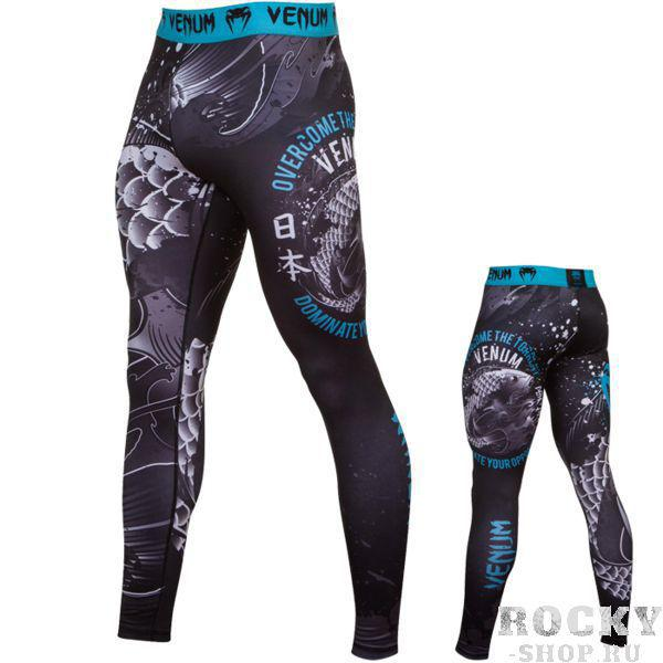Компрессионные штаны Venum Koi VenumКомпрессионные штаны / шорты<br>Компрессионные штаны Venum Koi. С этими компрессионками от Venum вы будете думать только о тренировочном процессе, не отвлекаясь на неприятные ощущения в мышцах ног. Предназначены для улучшения кровообращения в мышцах, что, в свою очередь, способствует уменьшению времени на восстановление полной работоспособности мышцы. Прекрасно сидят на любом теле, хорошо тянутся, абсолютно НЕ сковывают движения. Очень приятная на ощупь ткань. Штаны Venum достаточно быстро сохнут. Плоские швы не натирают кожу. Предназначены для занятий самыми различными единоборствами, кроссфитом, фитнесом, железным спортом и т. д. . Уход: Машинная стирка в холодной воде, деликатный отжим, не отбеливать.<br><br>Размер INT: XXL