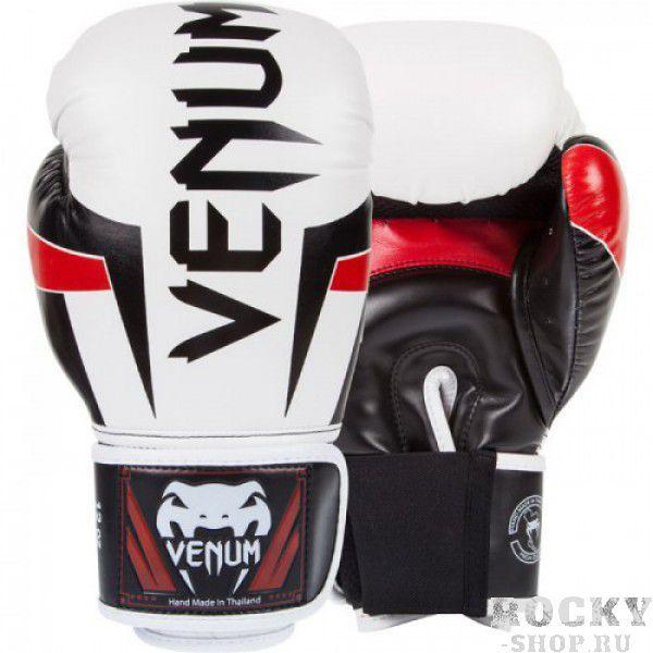 Купить Перчатки боксерские Venum Elite Boxing Gloves - White/Black/Red 12 унций (арт. 8213)